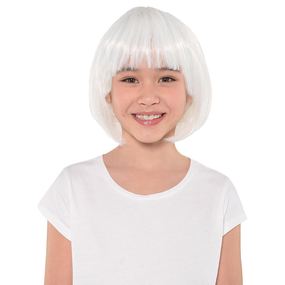 White Bob Wig Image #2