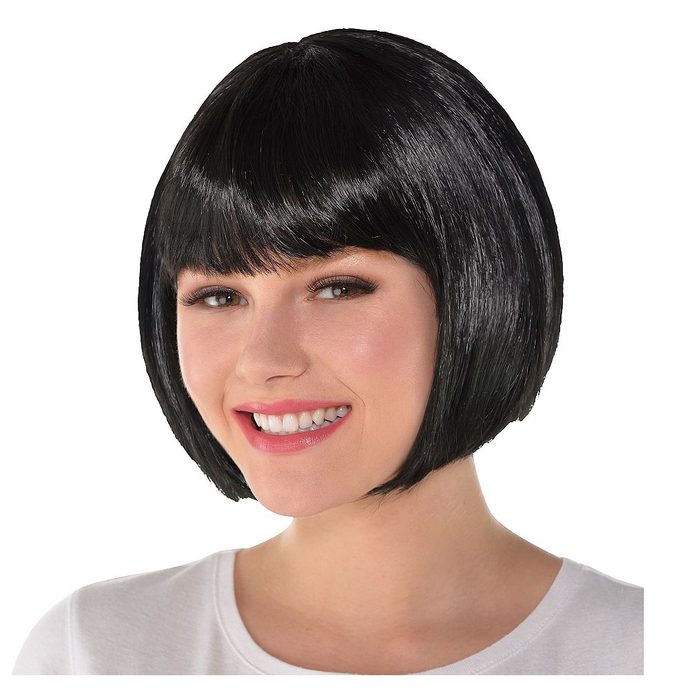 Nav Item for Black Bob Wig Image #1