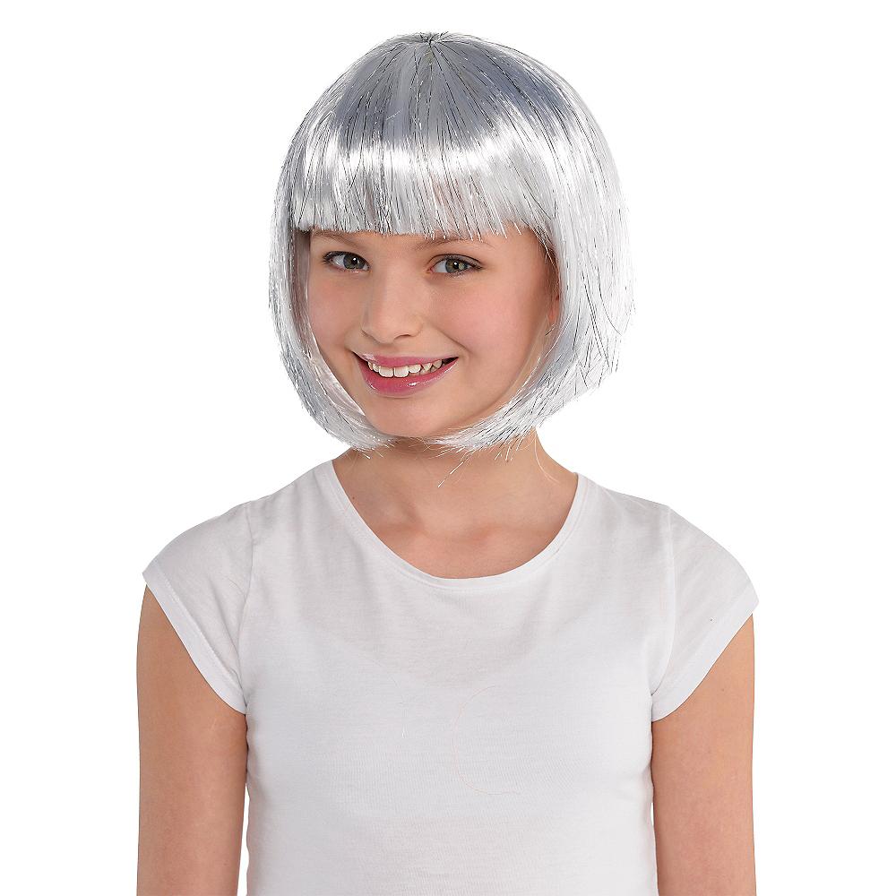 Silver Bob Wig Image #2