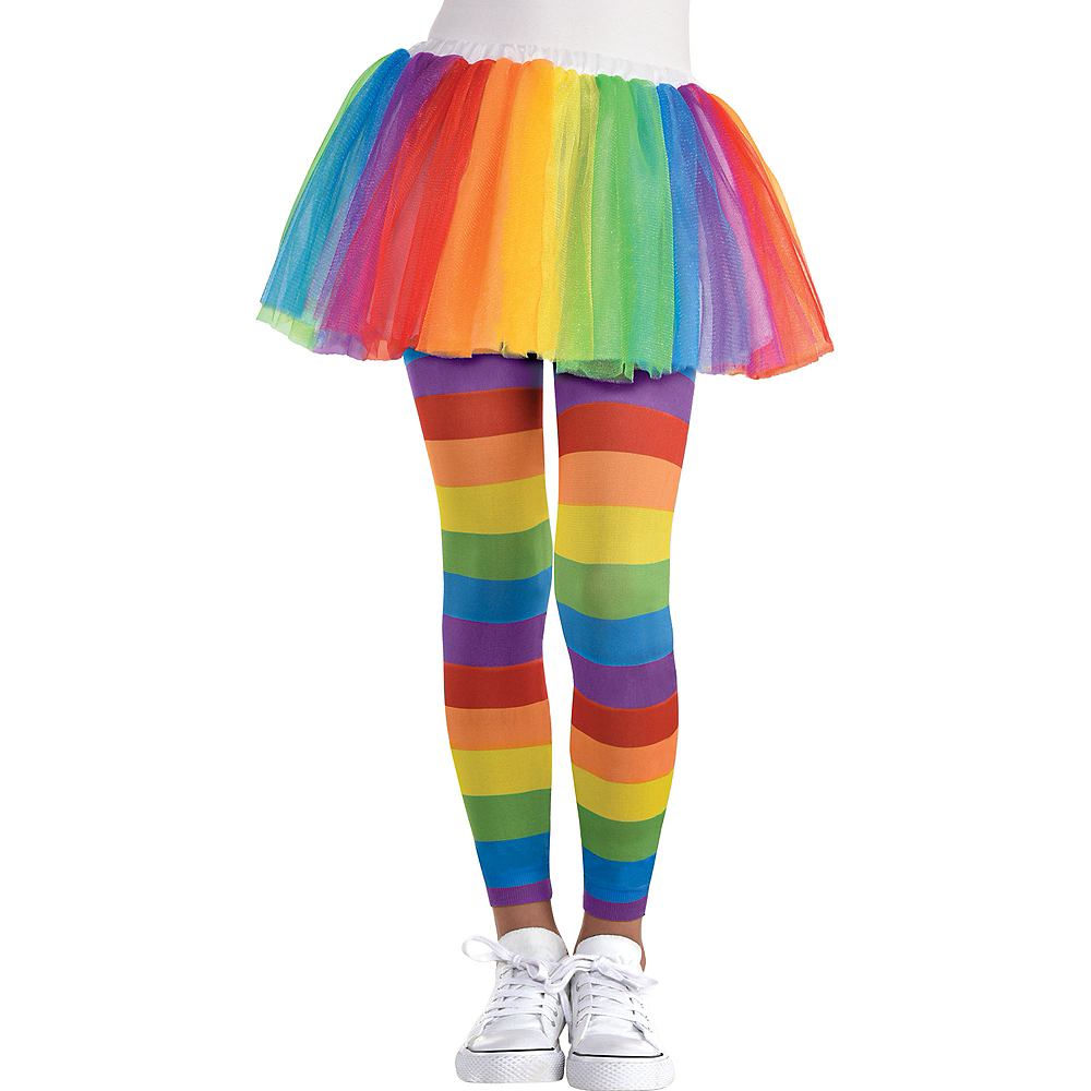 Child Rainbow Footless Tights Image #1