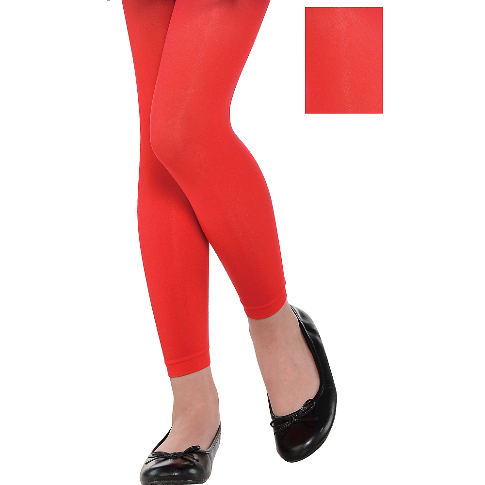 Nav Item for Child Red Footless Tights Image #1