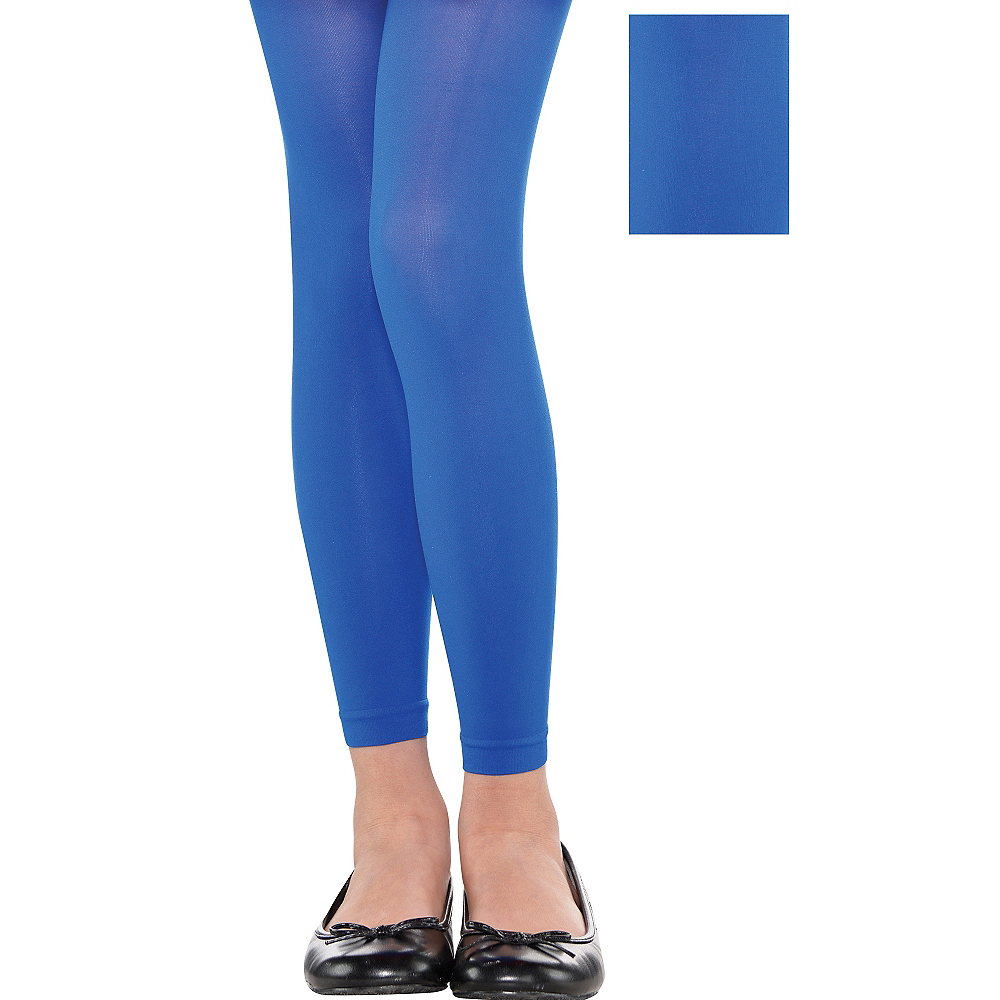 Child Blue Footless Tights Image #1
