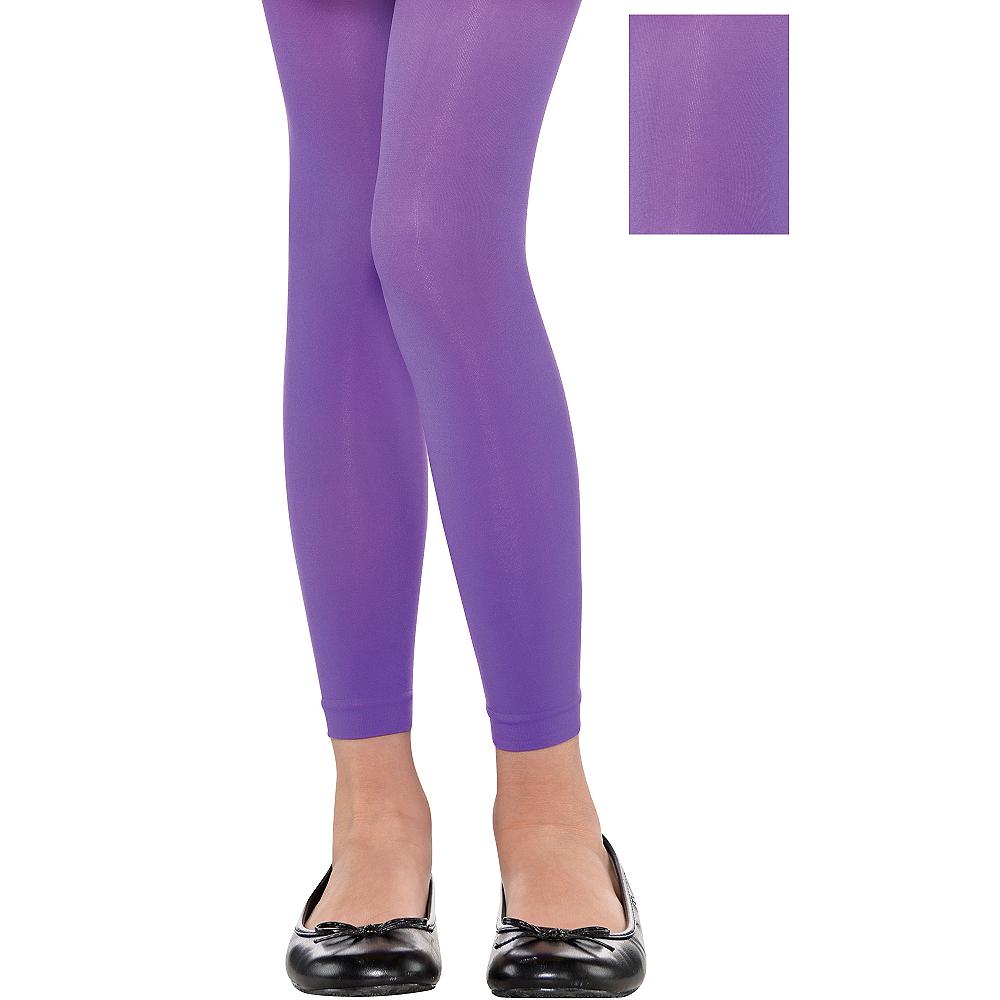 Child Purple Footless Tights Image #1