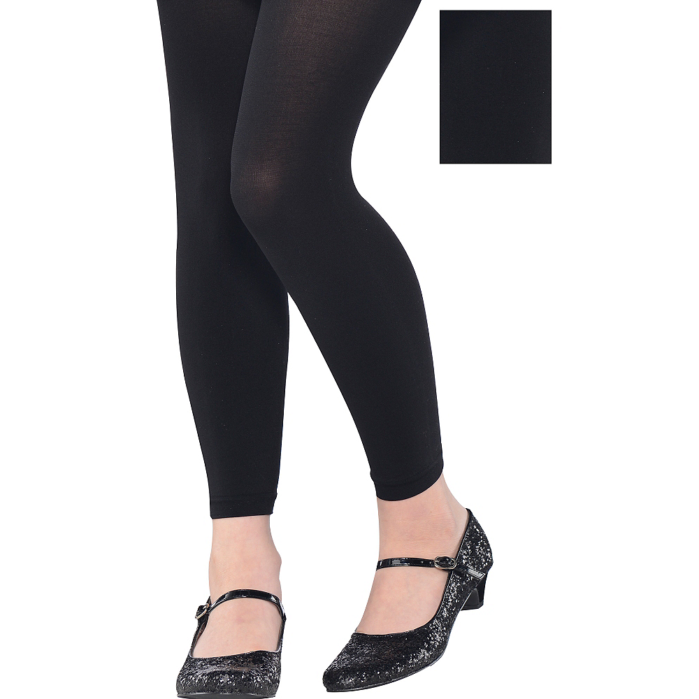 Child Black Footless Tights Image #1
