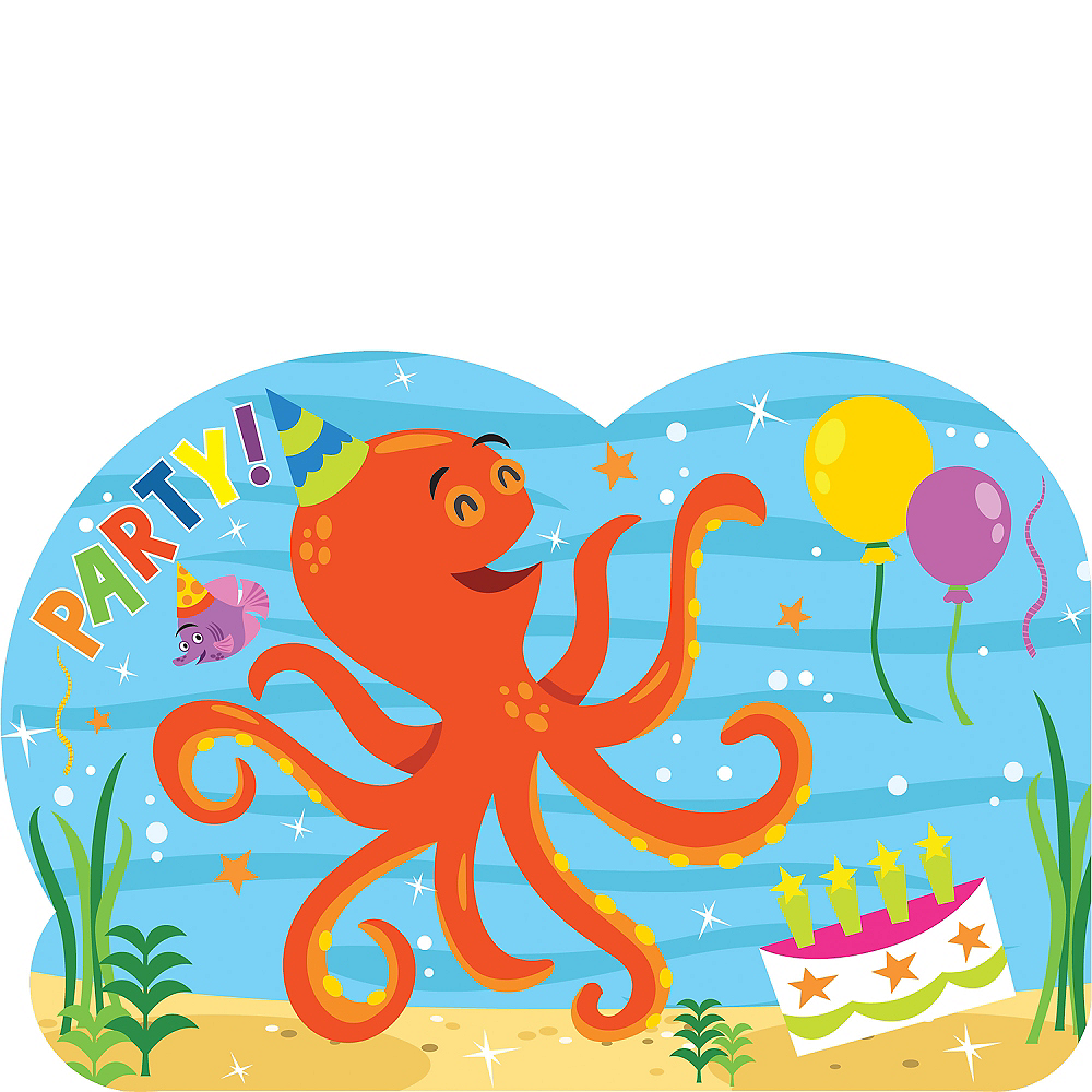 under the sea birthday invitations 8ct party city