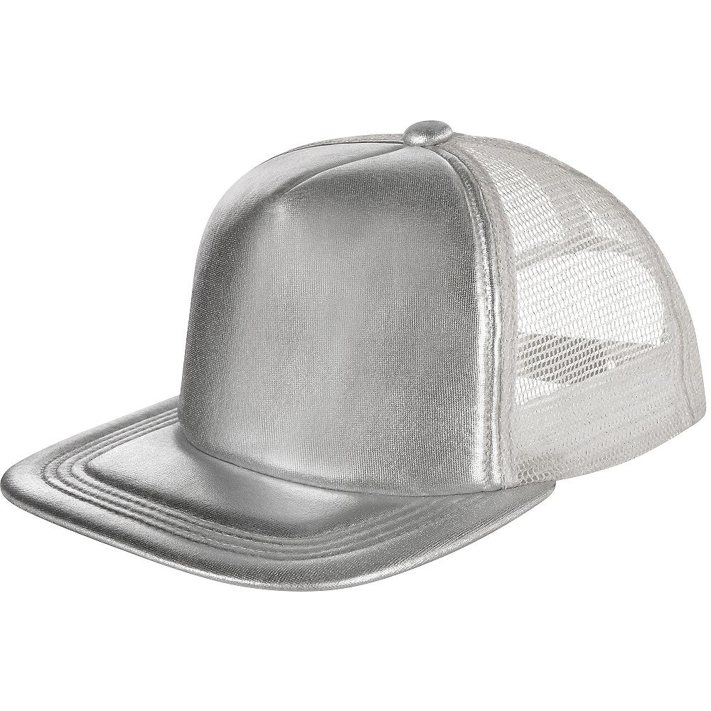 Silver Baseball Hat Image #1