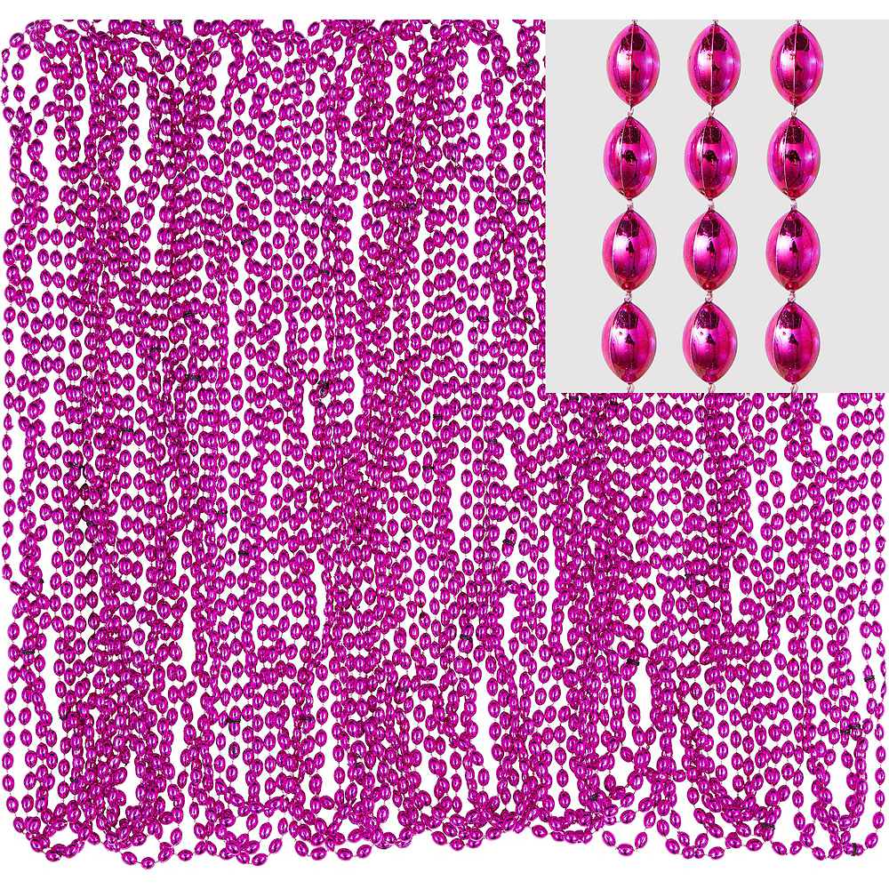 Pink Bead Necklaces 24ct Image #1