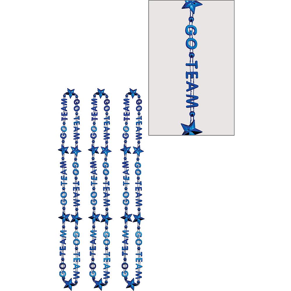 Blue Go Team Bead Necklaces 3ct Image #1