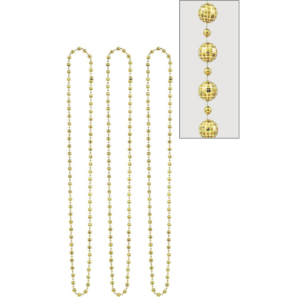 Gold Disco Bead Necklaces 3ct Image #1