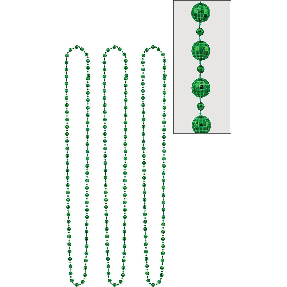 Green Disco Bead Necklaces 3ct Image #1