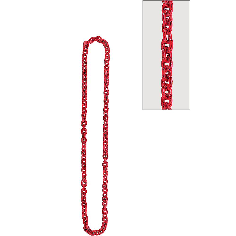 Red Chain Link Necklace Image #1
