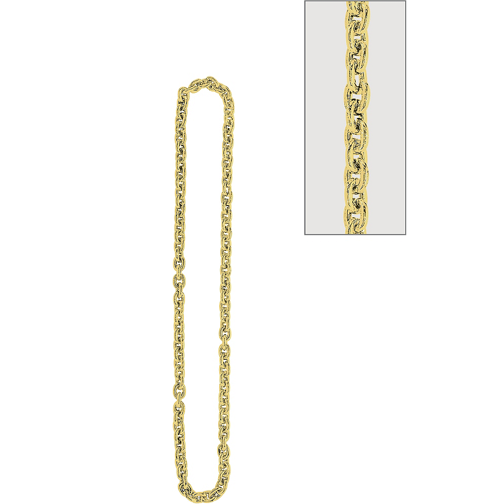 Gold Chain Link Necklace Image #1
