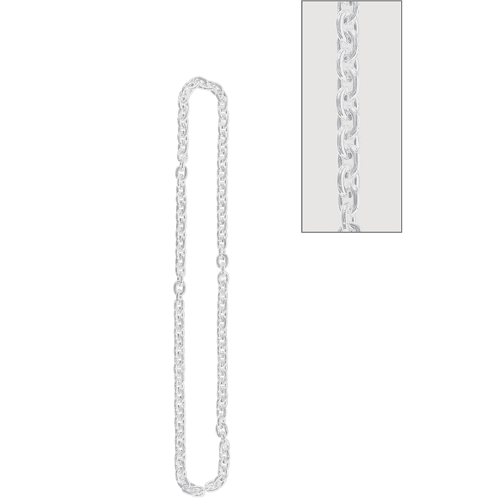 Silver Chain Link Necklace Image #1