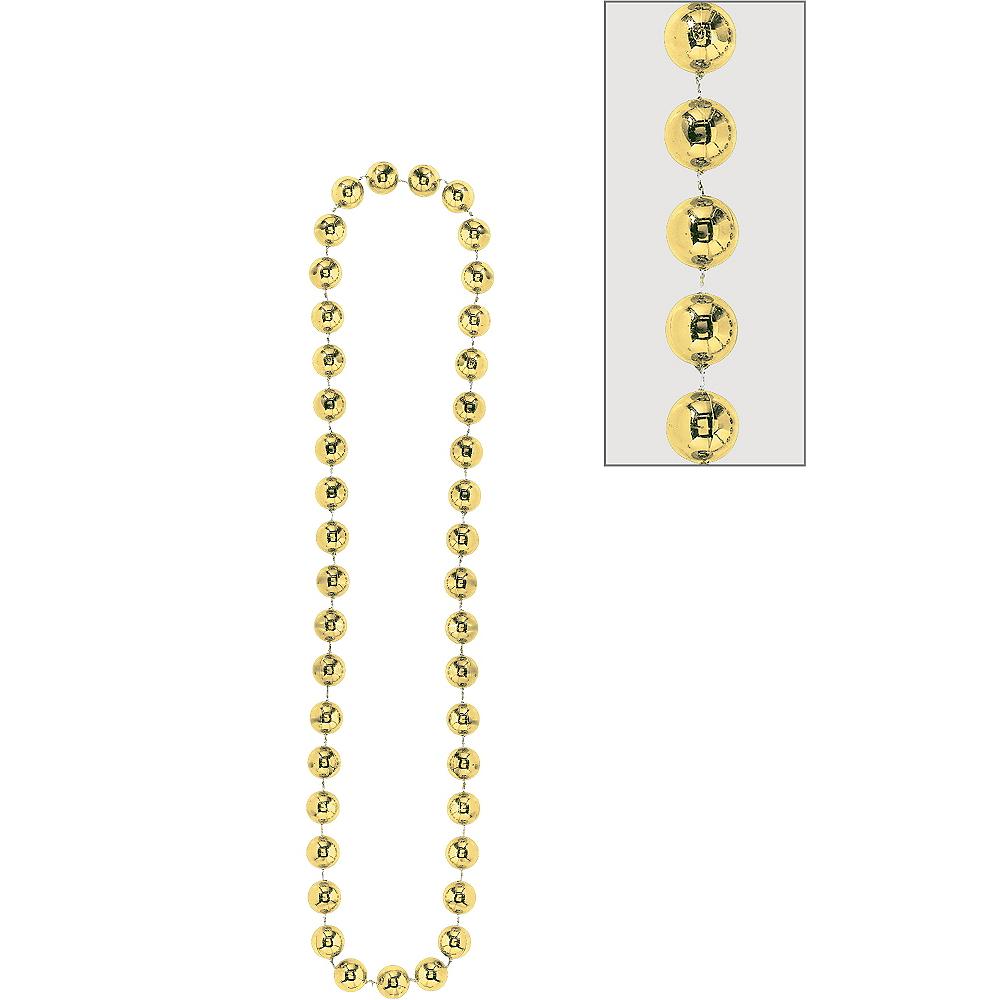 Gold Jumbo Bead Necklace Image #1