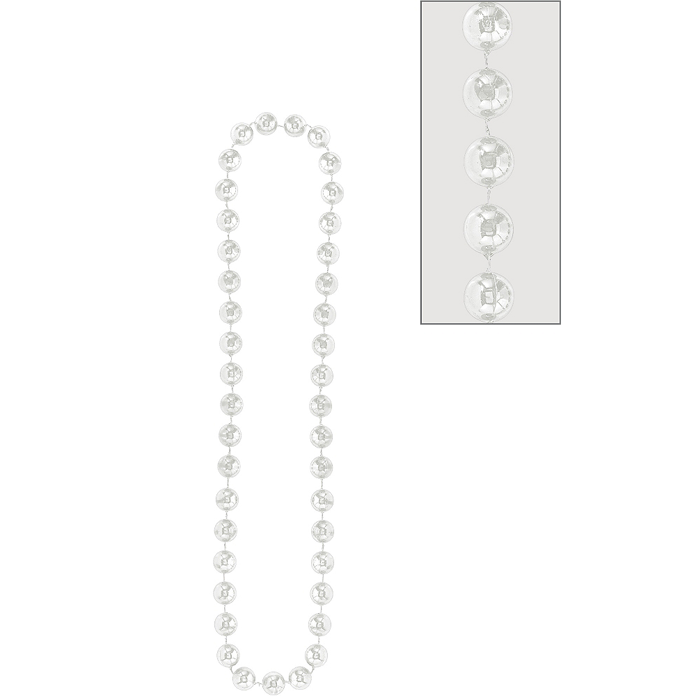 Silver Jumbo Bead Necklace Image #1