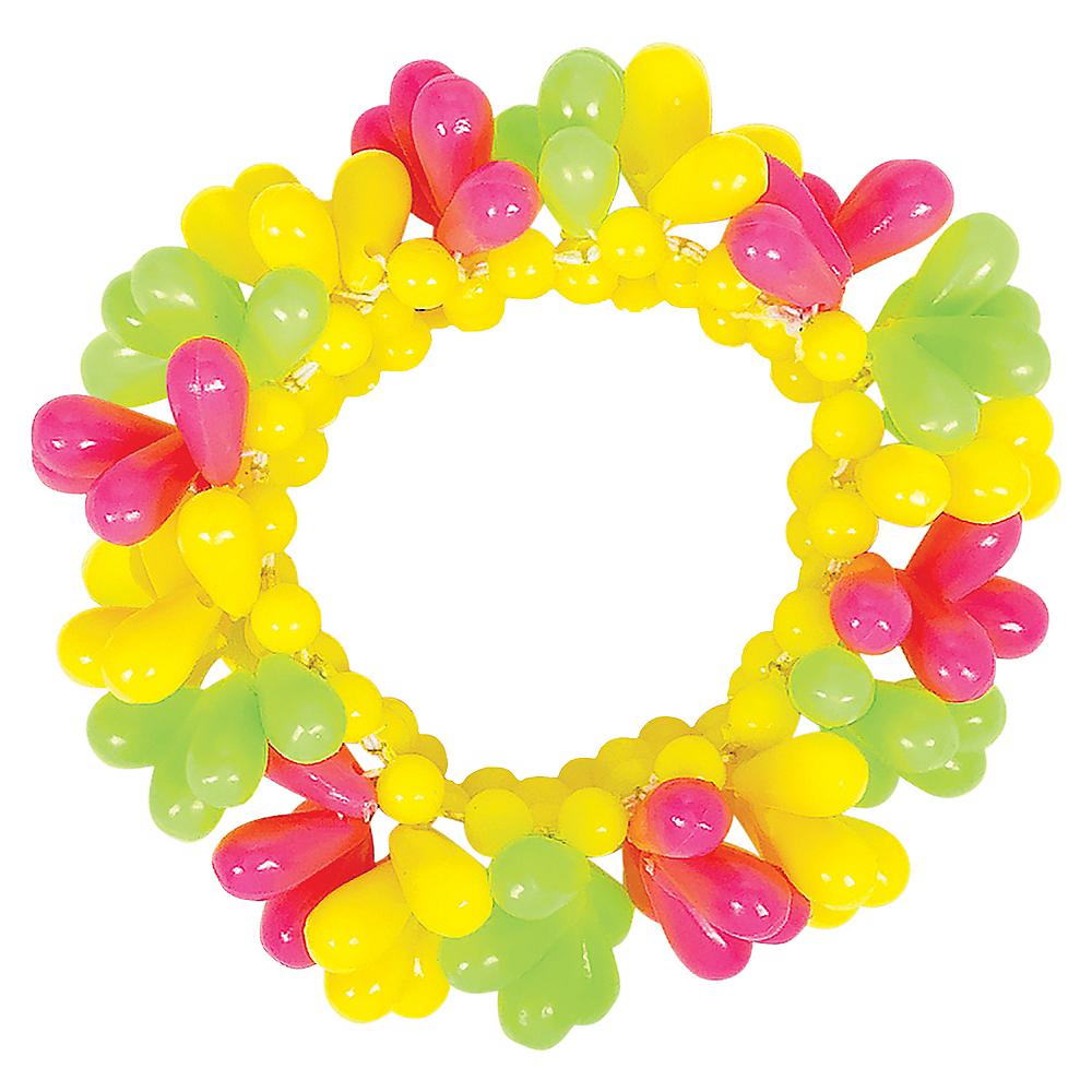 Black Light Neon Bead Bracelet Image #1