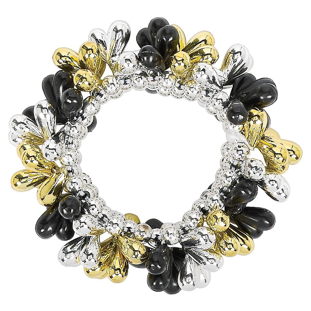 Black, Gold & Silver Bead Bracelet Image #1
