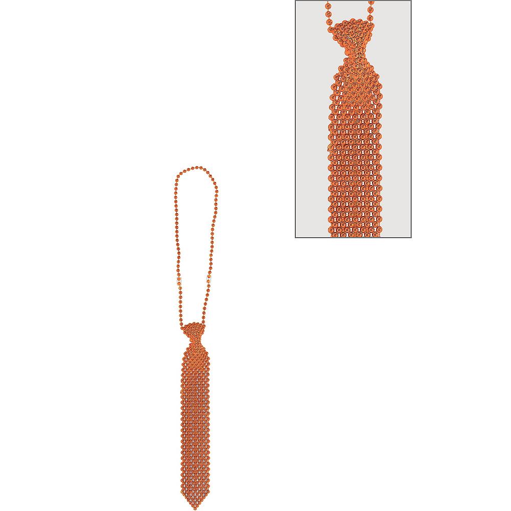Orange Tie Bead Necklace Image #1