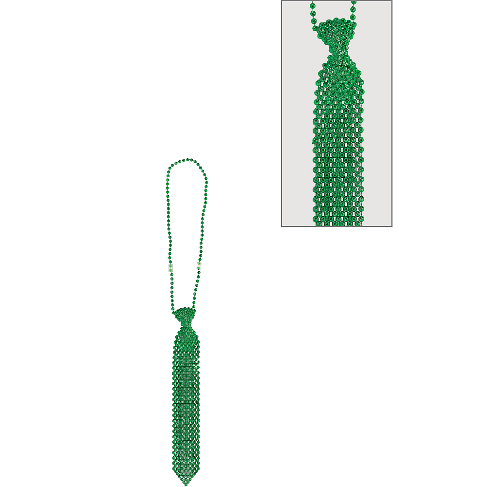 Green Tie Bead Necklace Image #1