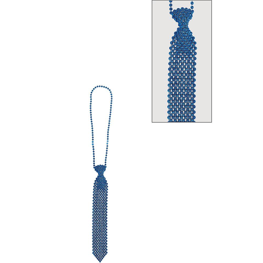 Blue Tie Bead Necklace Image #1