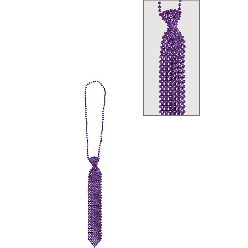 Purple Tie Bead Necklace Image #1
