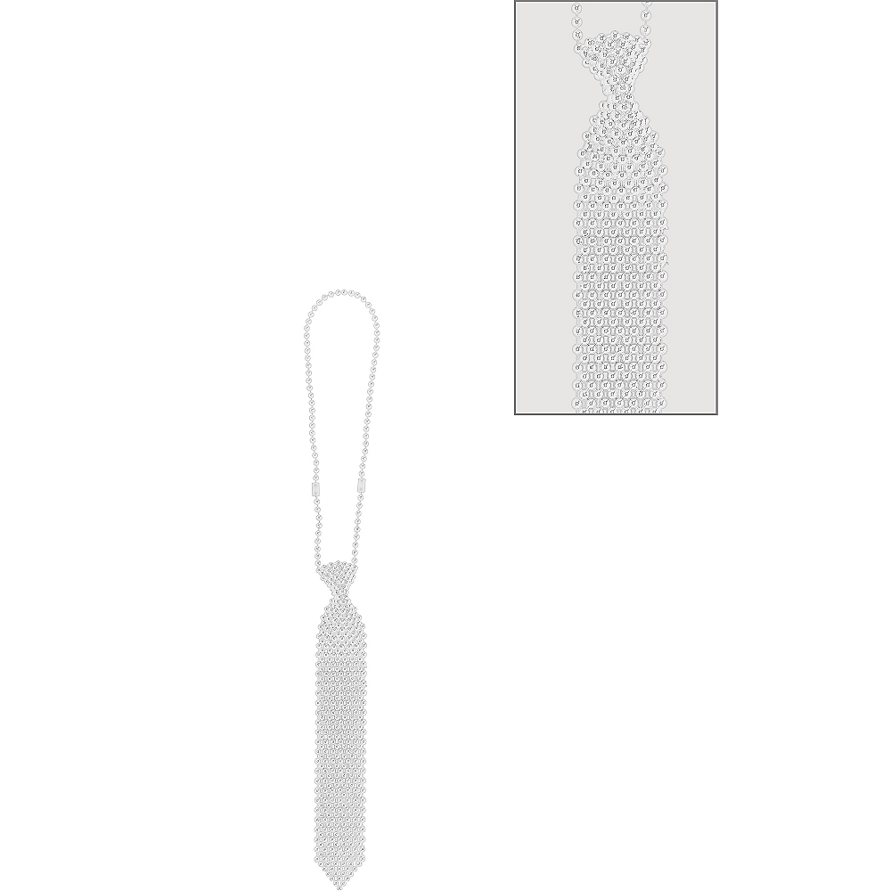 Nav Item for Silver Tie Bead Necklace Image #1