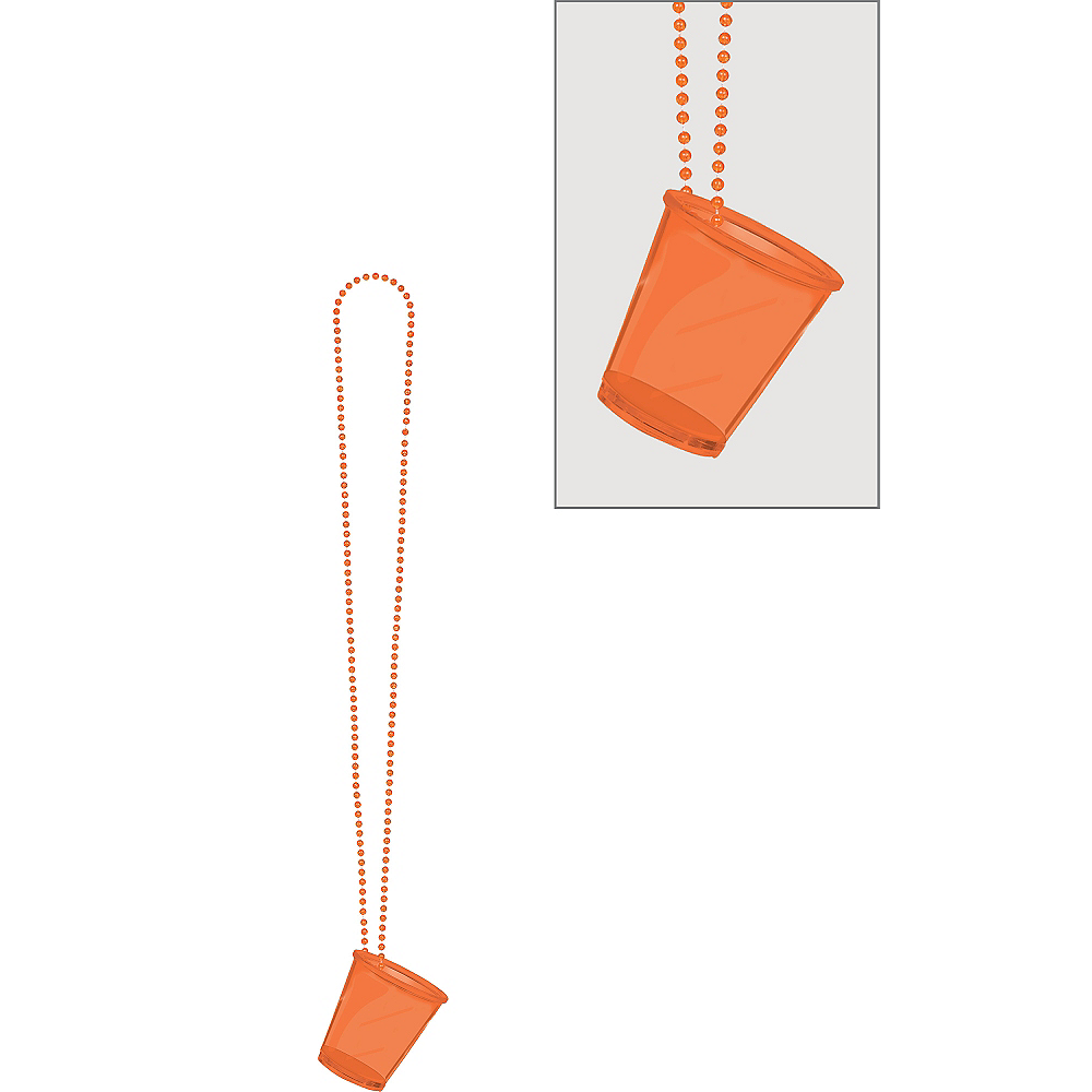 Orange Shot Glass Bead Necklace Image #1