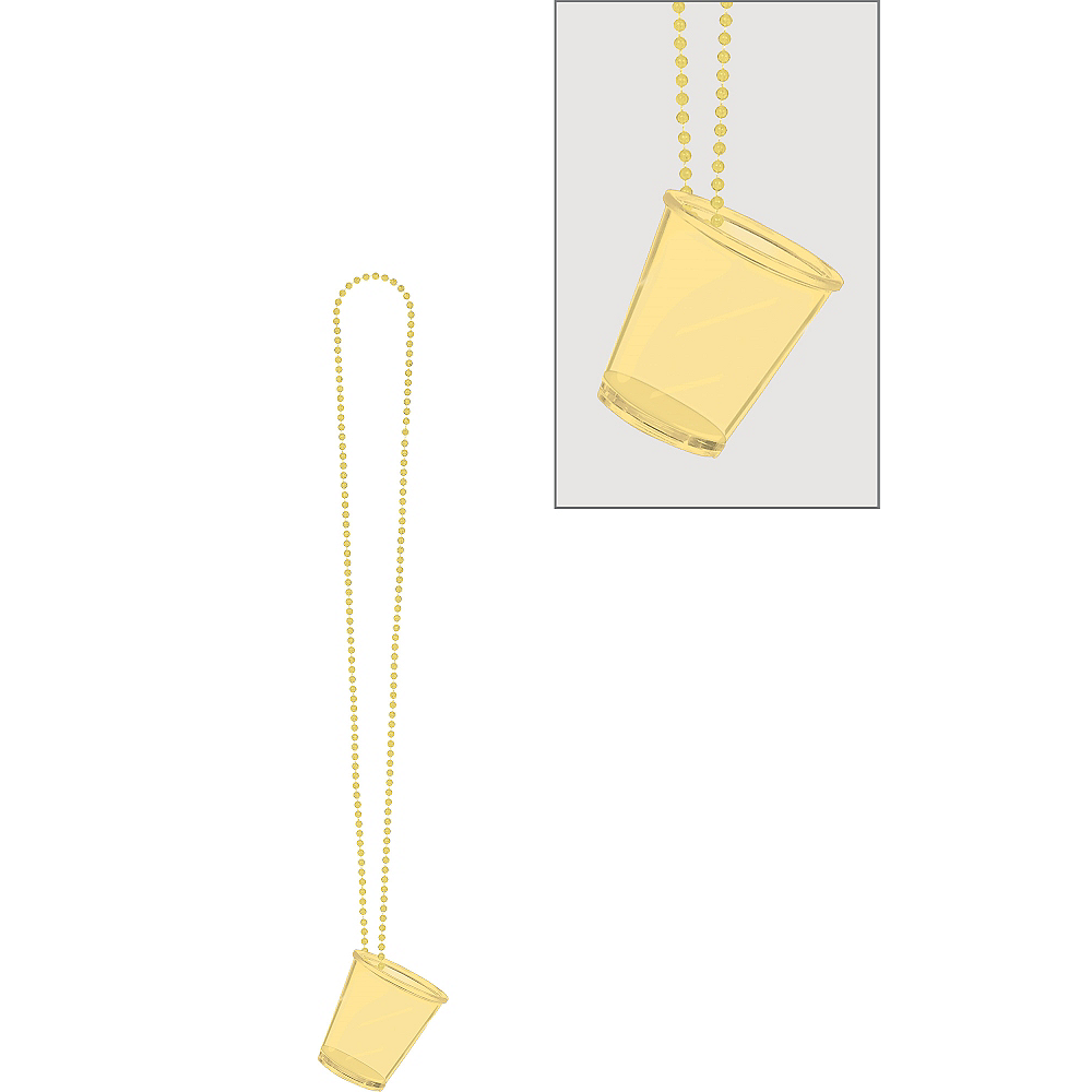 Gold Shot Glass Bead Necklace Image #1