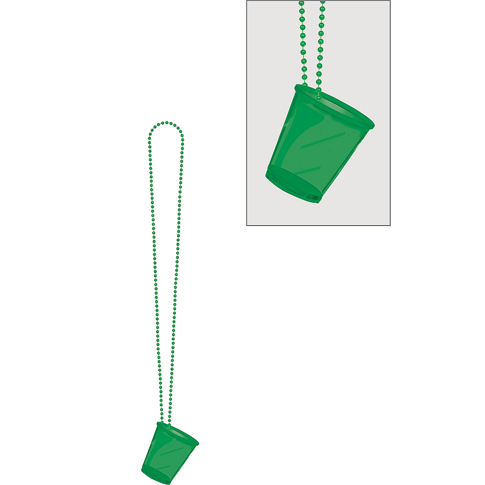 Green Shot Glass Bead Necklace Image #1