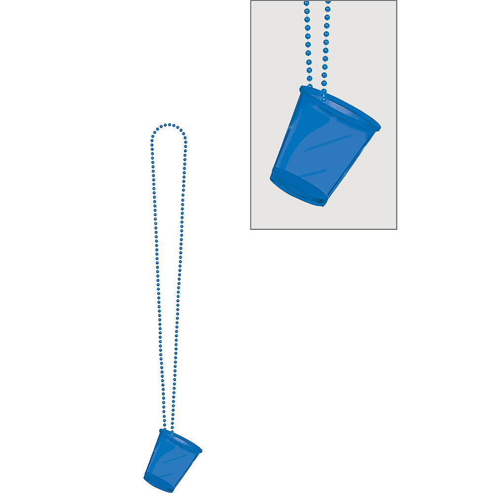 Blue Shot Glass Bead Necklace Image #1