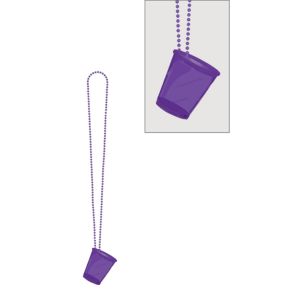 Purple Shot Glass Bead Necklace Image #1