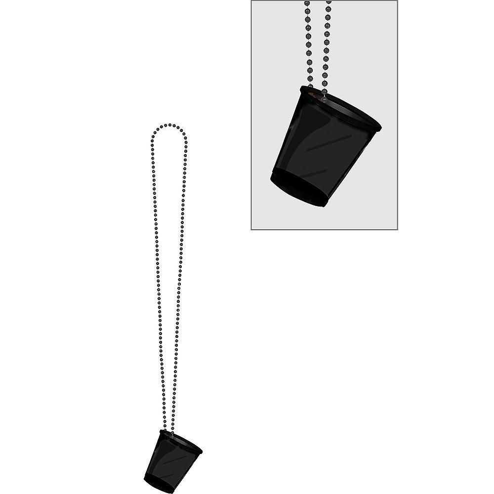 Black Shot Glass Bead Necklace Image #1