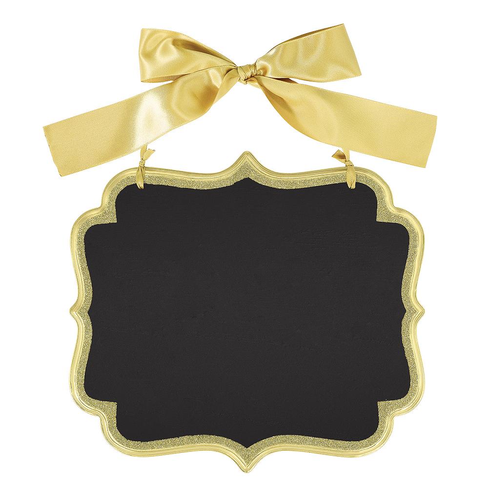 Glitter Gold Border Scroll Chalkboard Sign Image #1