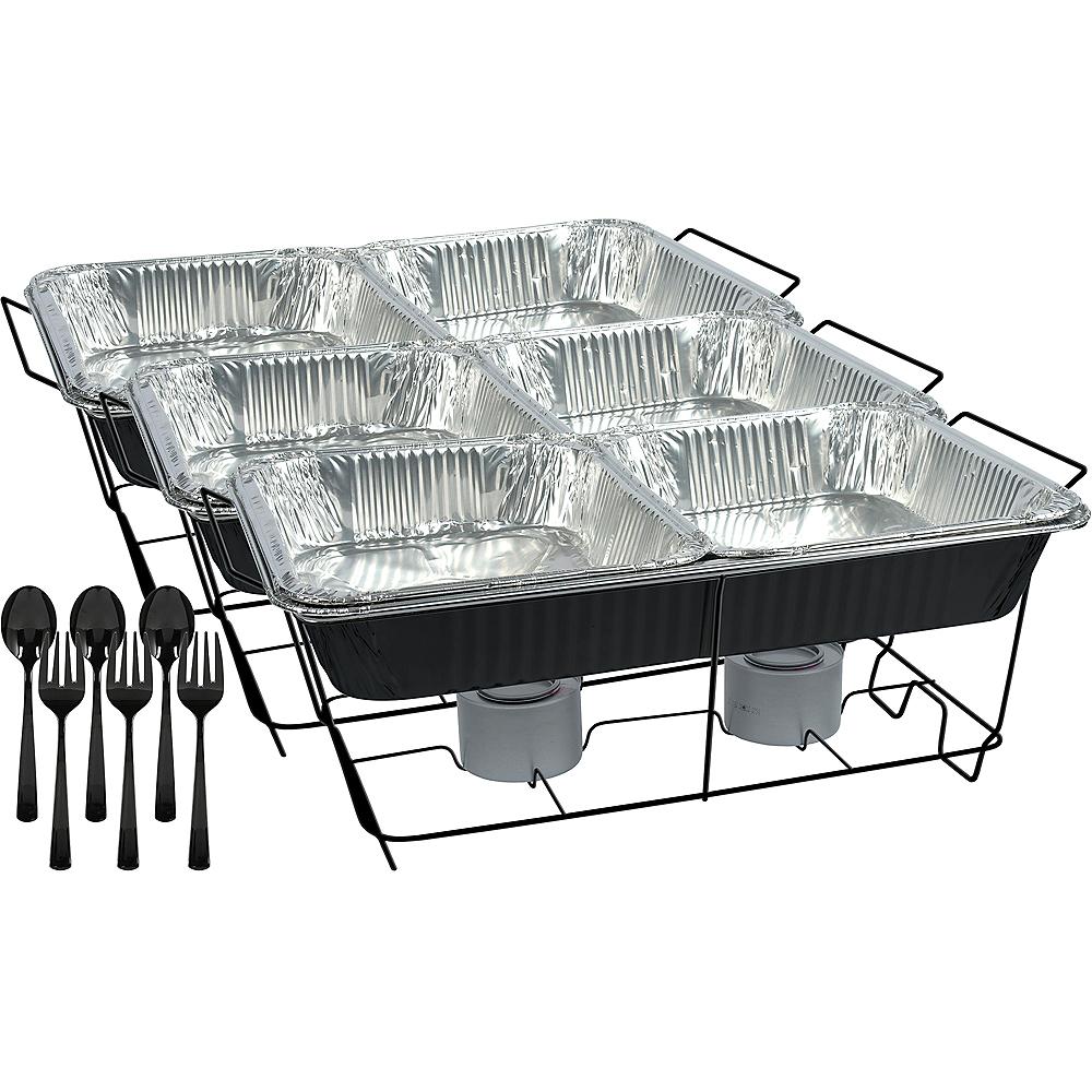 Black Chafing Dish Buffet Set 24pc Image #1