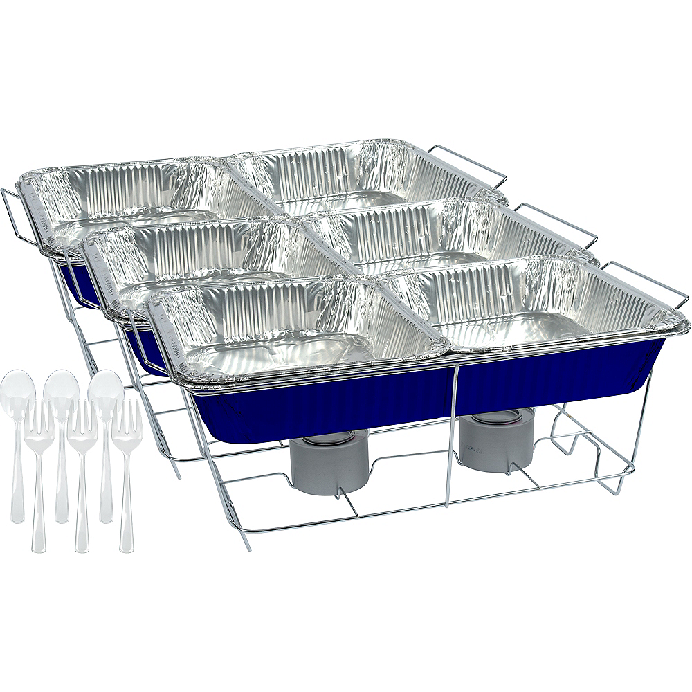 Royal Blue Chafing Dish Buffet Set 24pc Image #1