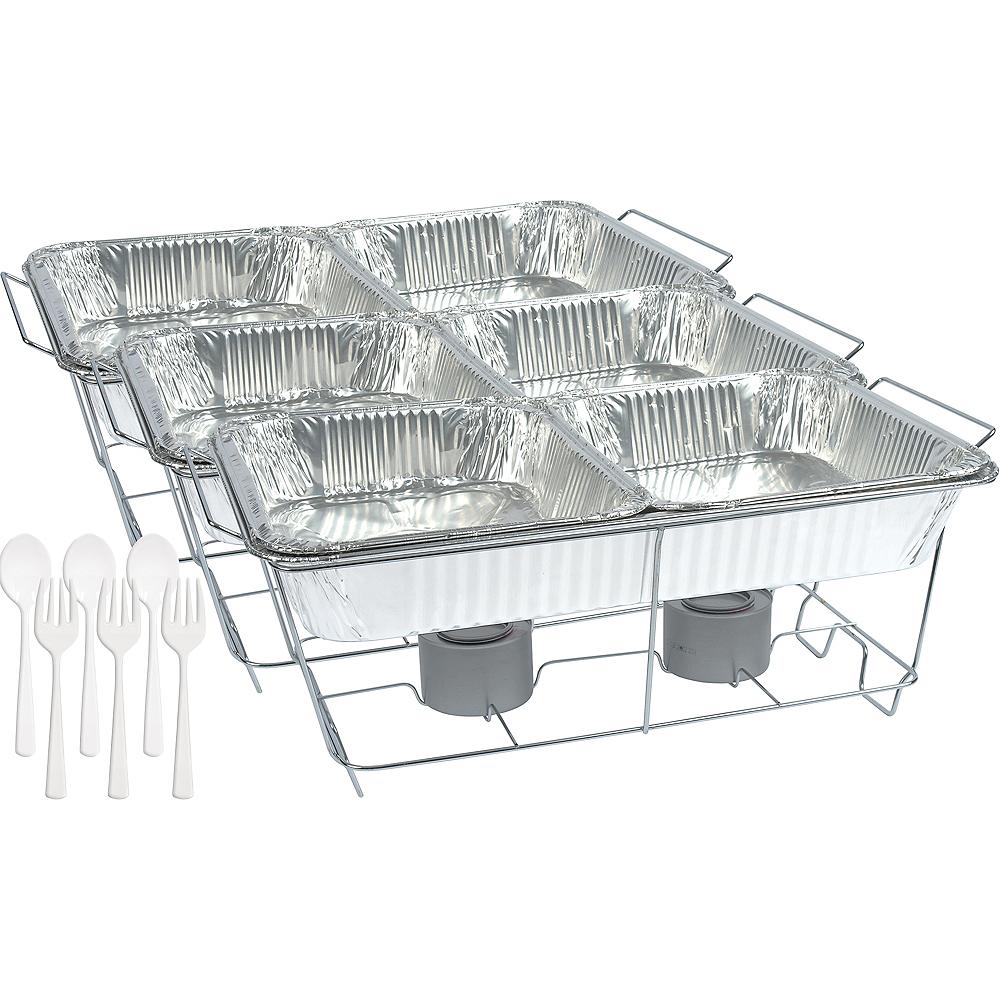 White Chafing Dish Buffet Set 24pc Image #1