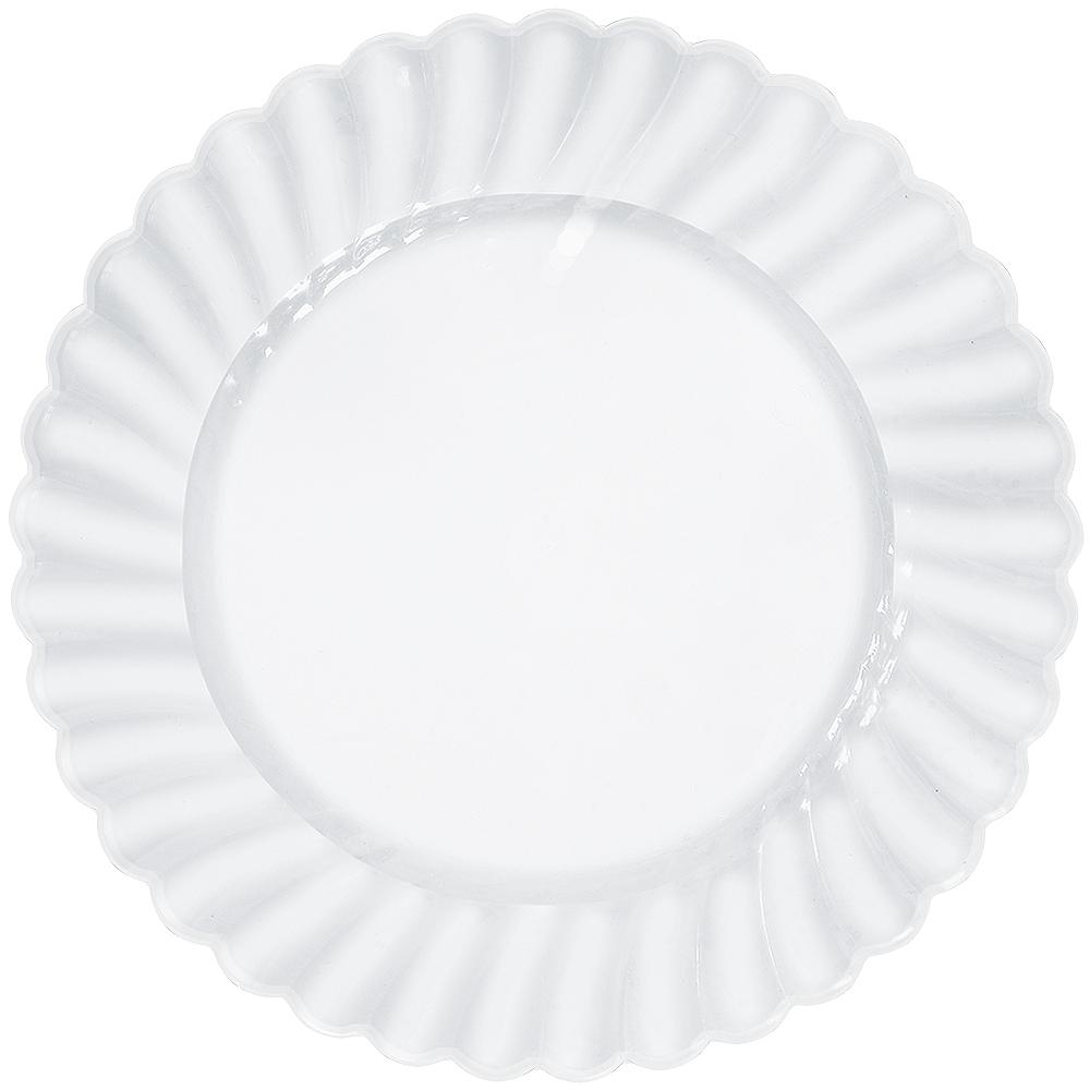 CLEAR Premium Plastic Scalloped Dinner Plates 12ct Image #1