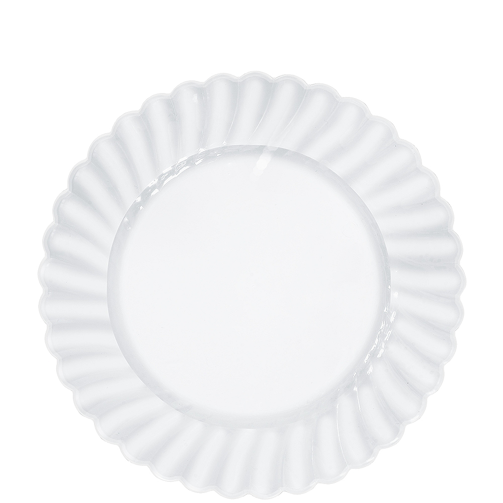 CLEAR Premium Plastic Scalloped Lunch Plates 12ct Image #1