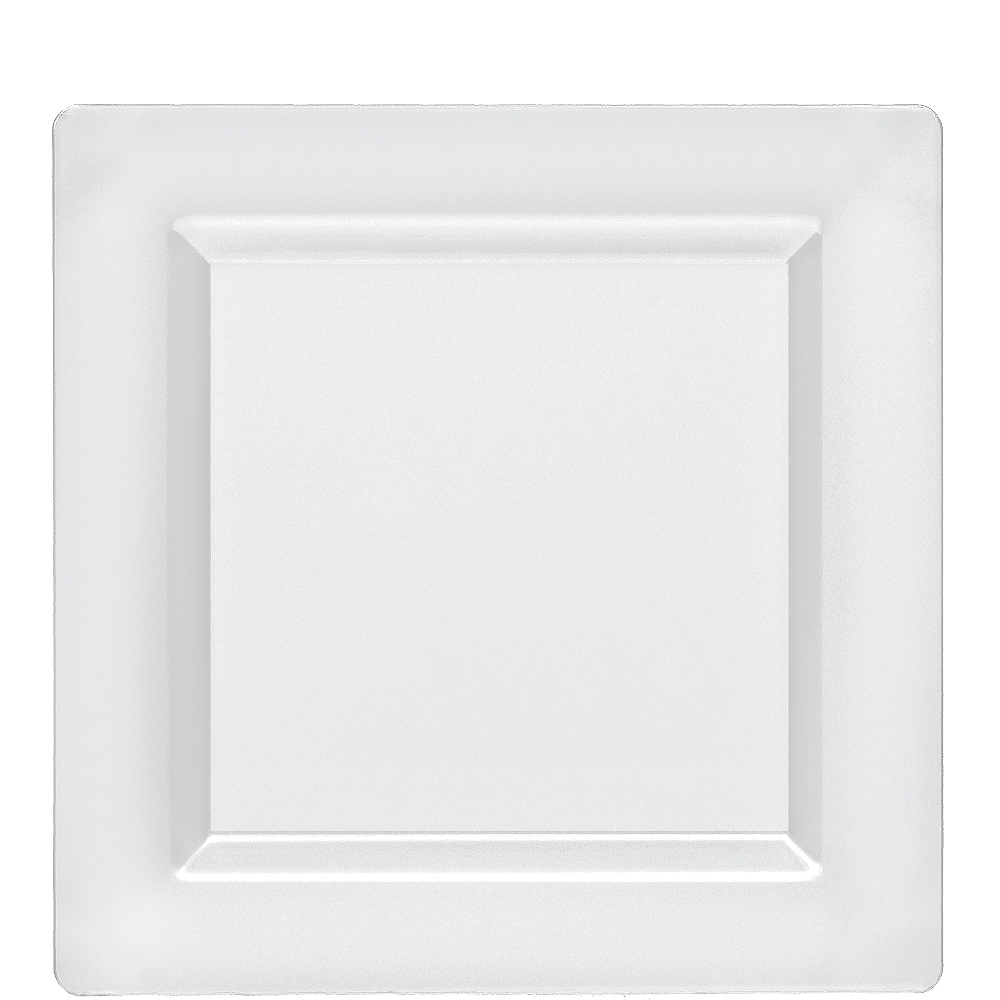 Nav Item for CLEAR Premium Plastic Square Lunch Plates 10ct Image #1