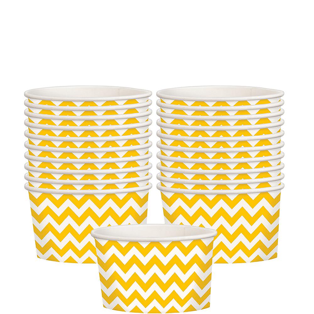 Sunshine Yellow Chevron Paper Treat Cups 20ct Image #1