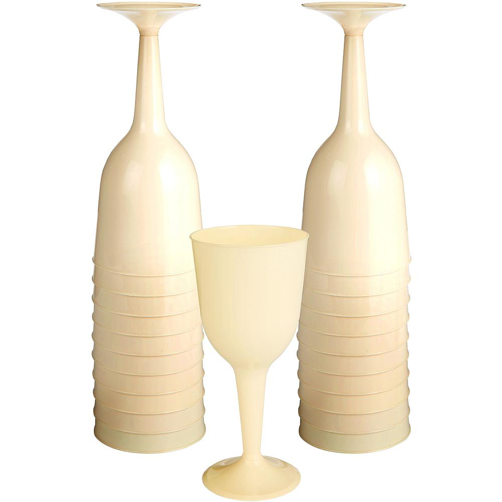 Big Party Pack Vanilla Plastic Wine Glasses 20ct Image #1