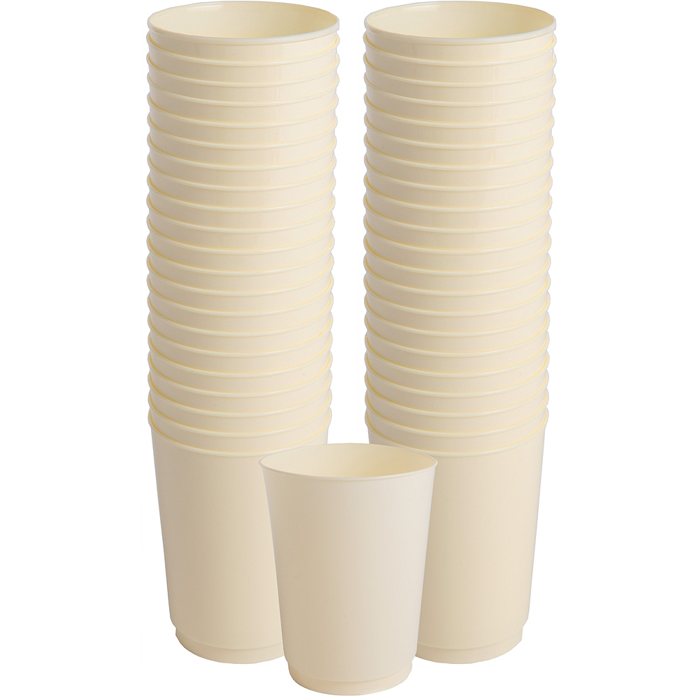 Big Party Pack Vanilla Cream Plastic Cups 72ct Image #1