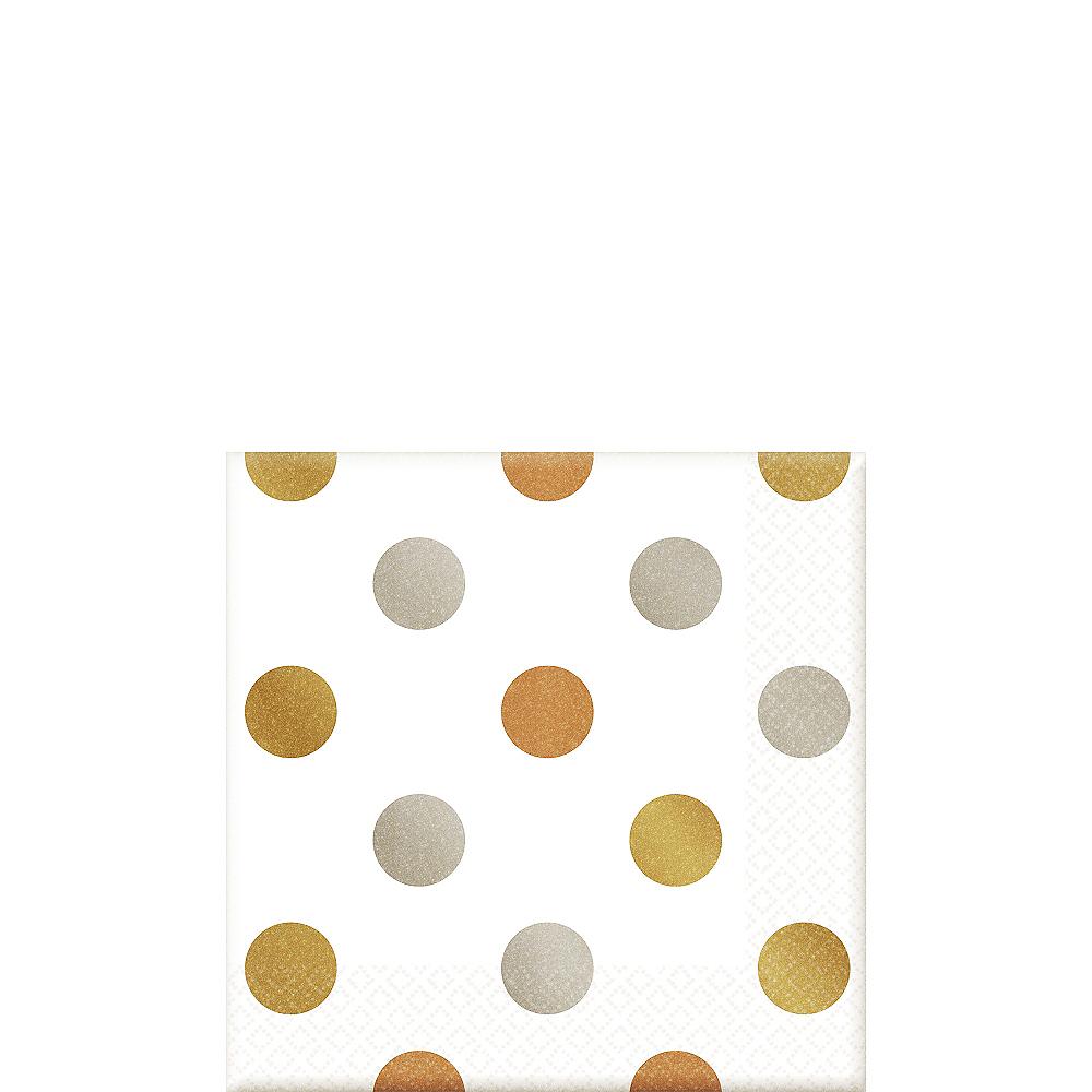Metallic Polka Dot Beverage Napkins 16ct Image #1