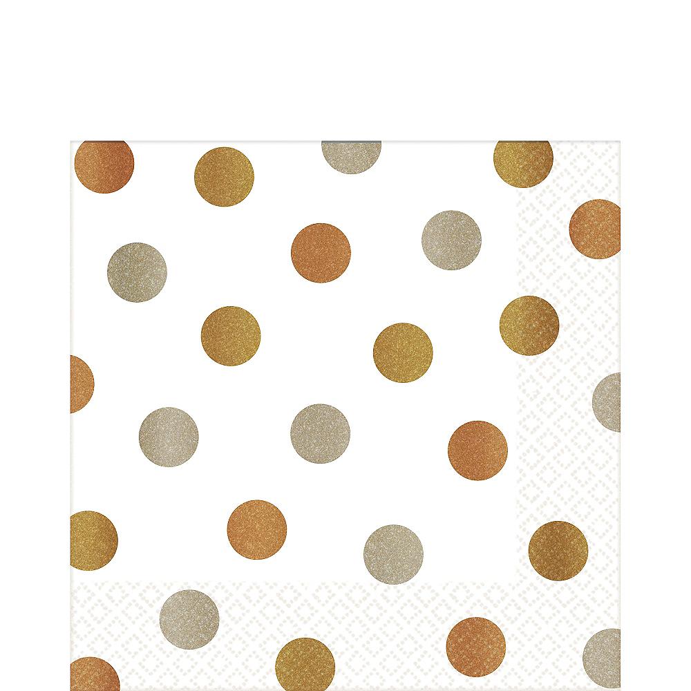 Metallic Polka Dot Lunch Napkins 16ct Image #1