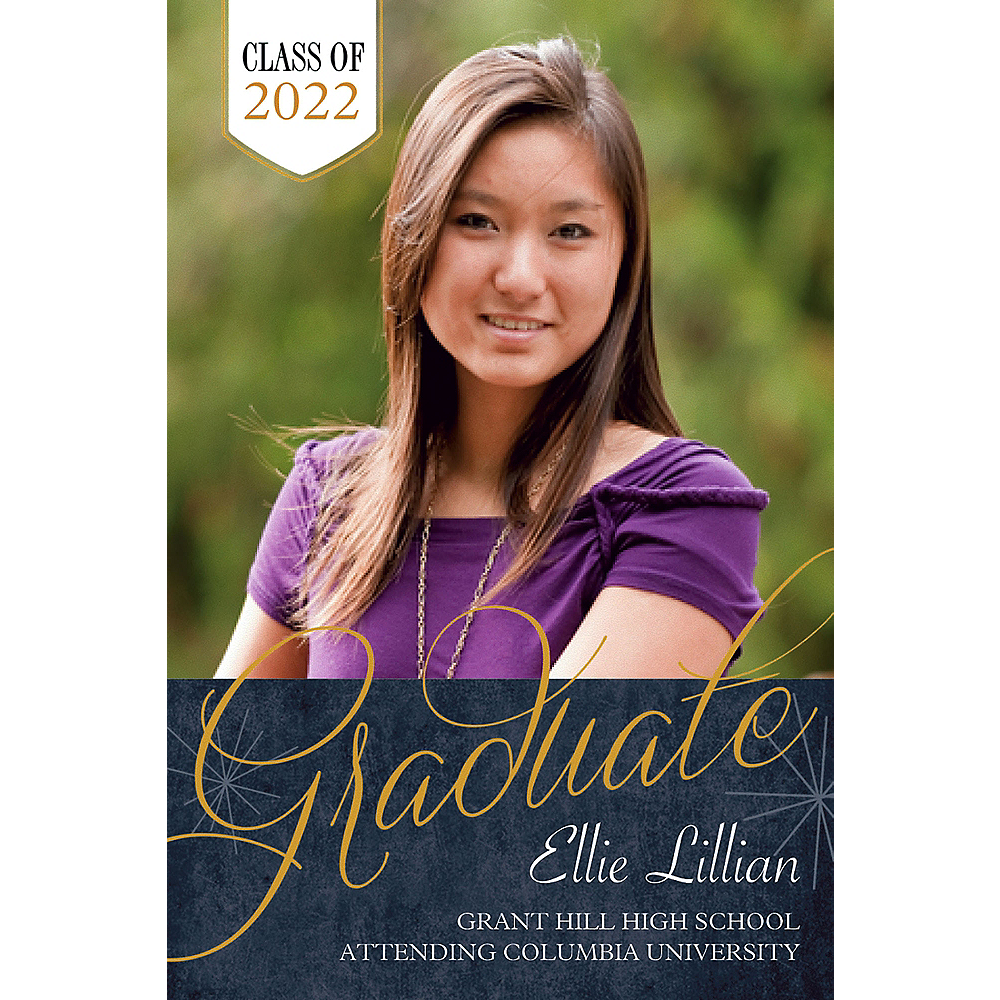 Custom Fireworks Script Graduation Photo Announcement    Image #1
