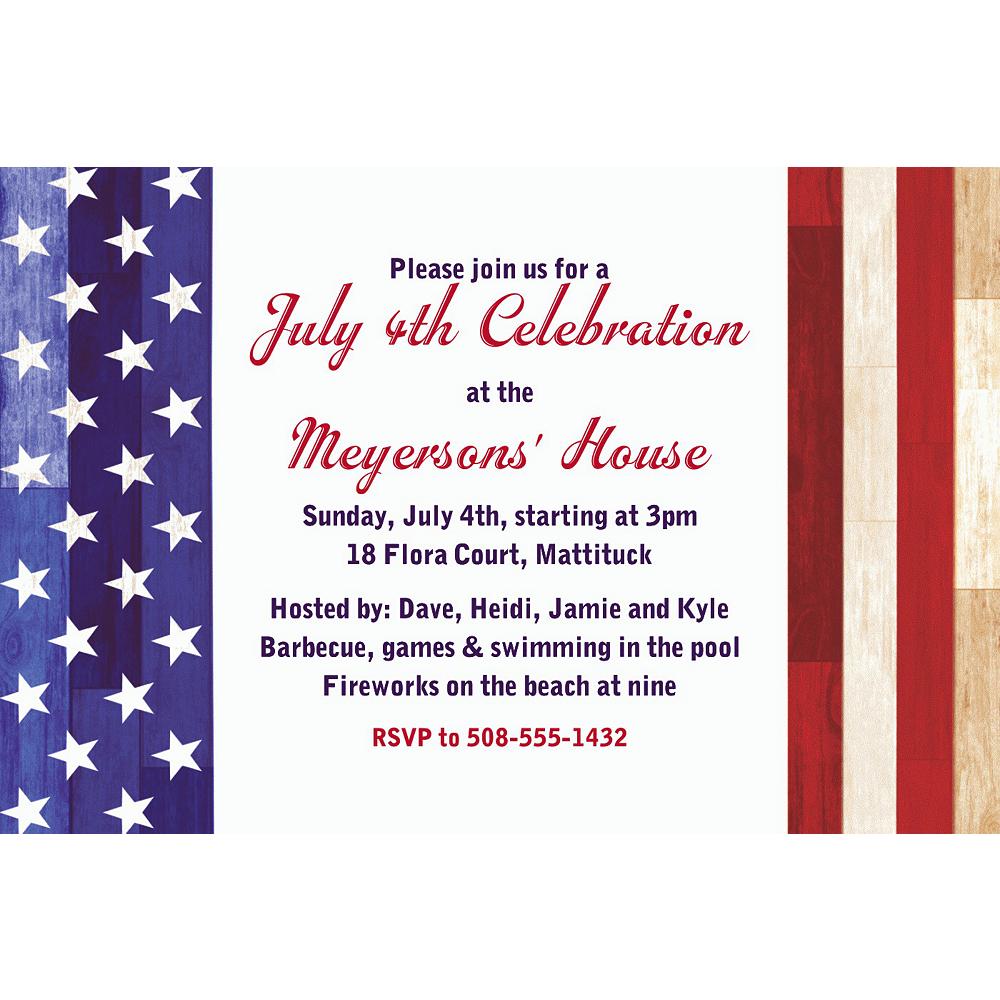 Custom Rustic Americana Invitation Image #1