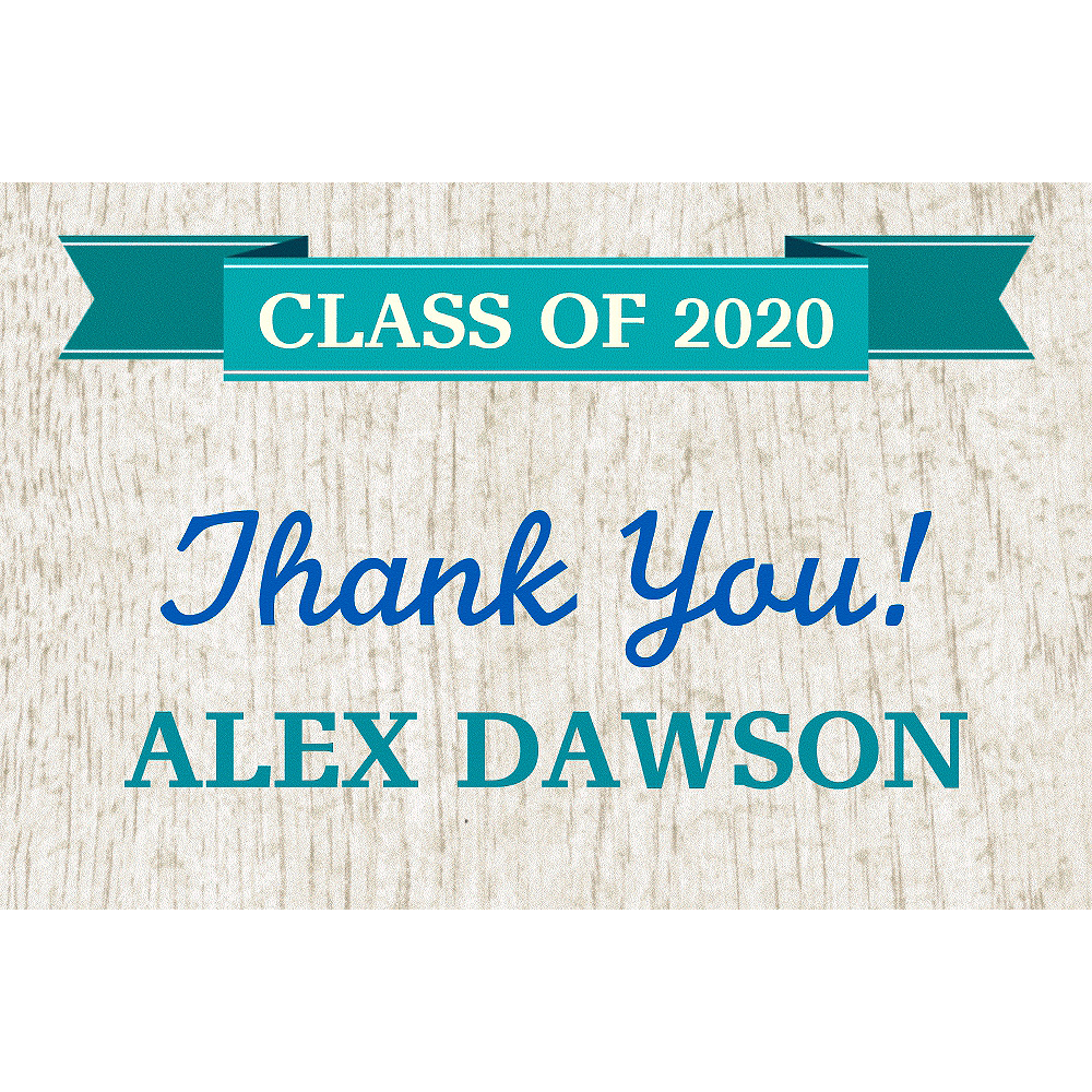 Custom Wood Graduation Thank You Note     Image #1