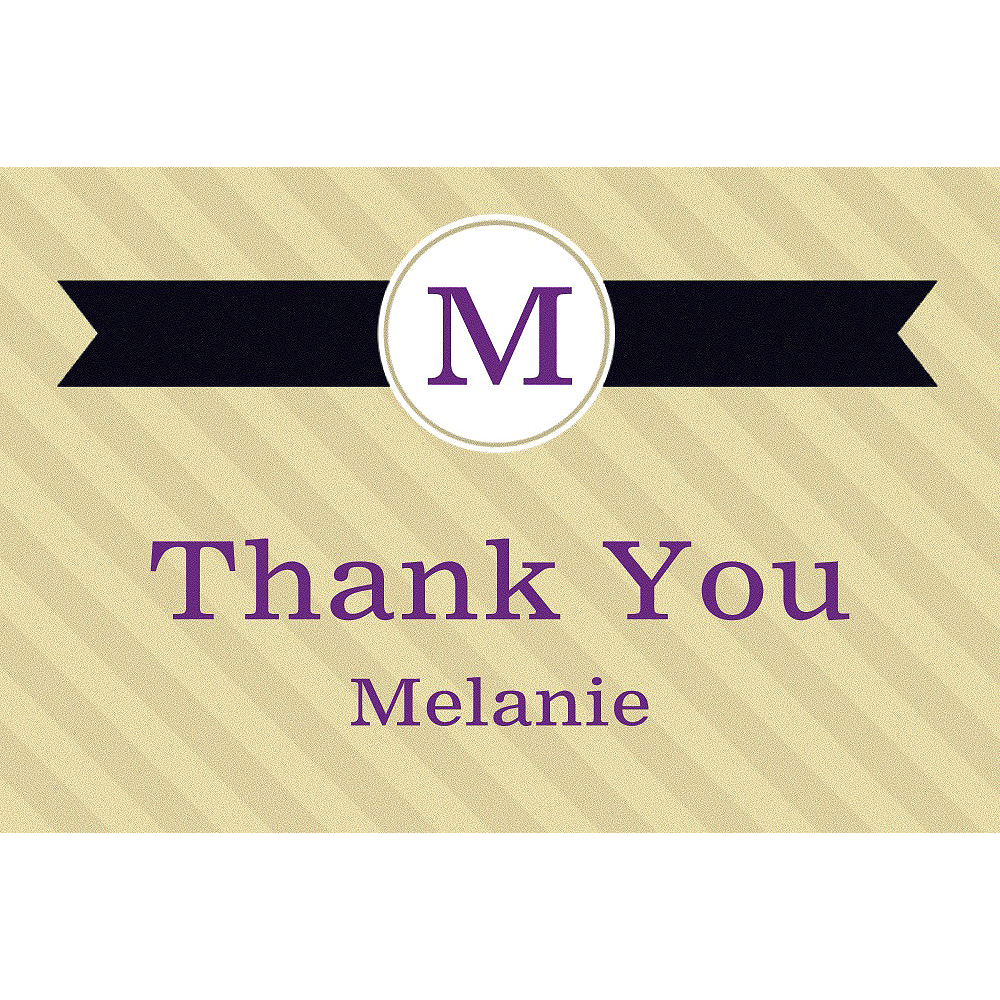 Custom Neutral Initial Graduation Thank You Note  Image #1