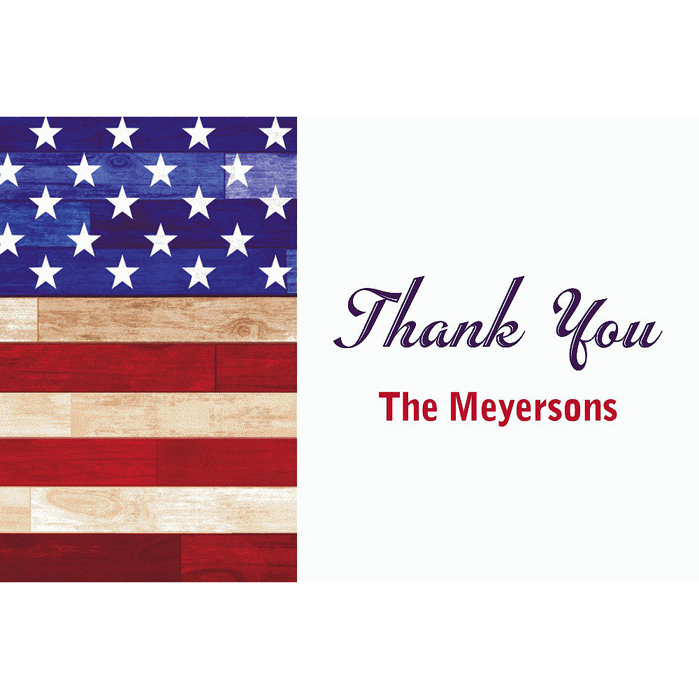 Custom Rustic Americana Thank You Note Image #1