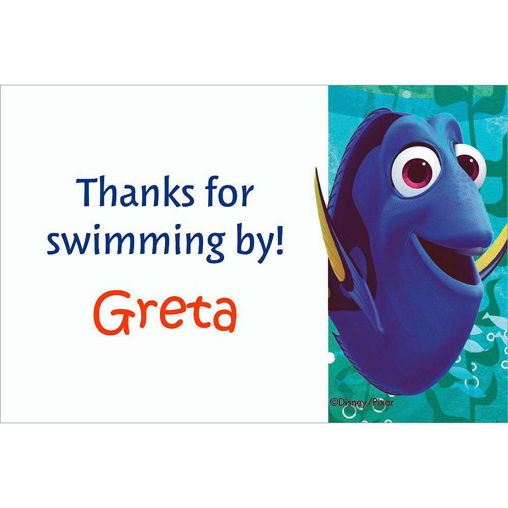 Custom Finding Dory Thank You Note Image #1